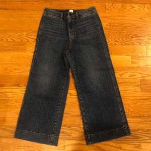 Brand new Gap high-rise wide-leg cropped jeans